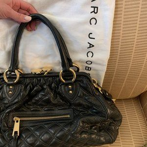 Marc Jacobs Black and Gold Hangbag